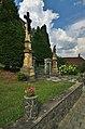 Kříž u vstupu ke kostelu, Rozstání, okres Prostějov.jpg