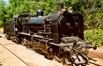 Victorian Railways K class - Preserved K 160 in operation on the Victorian Goldfields Railway, 19 December 2004