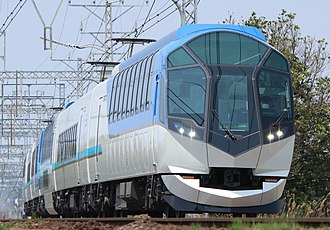 Kintetsu 50000 series - A Kintetsu 50000 series EMU on a Shimakaze service, April 2013