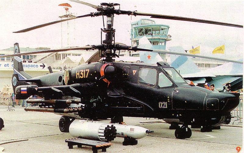 """لمروحية الروسية """"كا-50"""" القرش الاسود 800px-Ka-50_NTW_7_8_93"""