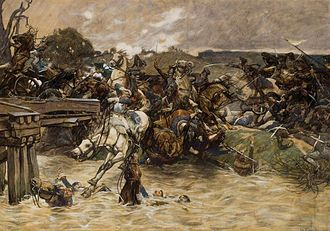 Battle of the Katzbach - Battle of the Katzbach by Eduard Kaempffer.