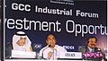 Kamal Nath, the Minister for Commerce & Industry of Oman, Mr. Maqbool and the Minister for Commerce of Saudi Arabia, Dr. Hashim bin Abdullah at the Gulf Cooperation Council 3rd India Industrial Forum in Mumbai.jpg