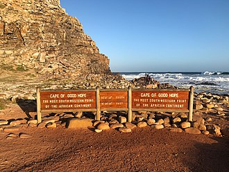 Cape of Good Hope - Sign at the Cape of Good Hope, 2018