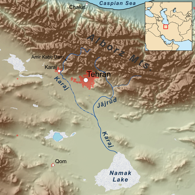 Karaj river map.png