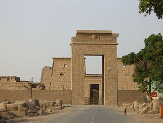 Temple of Khonsu - Entrance to the Temple of Khonsu (Gateway of Ptolemy III)