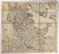 Karta över nordvästra Tyskland samt Lolland och Fyn, Själland, Sydjylland, 1650-1700 cirka - Skoklosters slott - 98055.tif