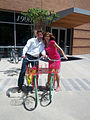 Kathy Ireland and Michael Abare - On Google Bikes at Google Plex.jpeg