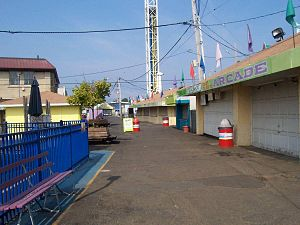 Keansburg, New Jersey - An early morning view of the boardwalk in Keansburg Amusement Park