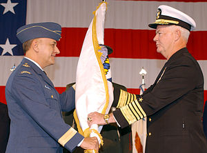 Timothy J. Keating - Keating (right) assumes command of NORAD