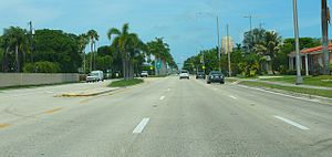 Kendall Drive - Kendall Drive (SR 94) eastbound near the Palmetto Expressway.