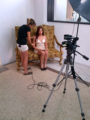 Kenia Arias - Behind the scenes at LMNT in Miami, Florida.