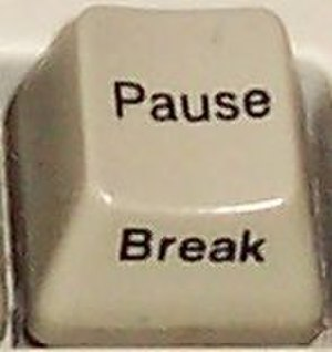 Break key - Break/Pause key on PC keyboard