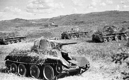 BT-7 Tanks in the Battle of Khalkhin Gol Khalkhin Gol Soviet tanks 1939.jpg