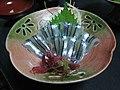 Kibinago sashimi by naotakem in Kagoshima.jpg