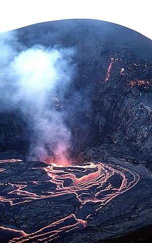 Kīlauea Iki - Kilauea Iki on December 19, 1959