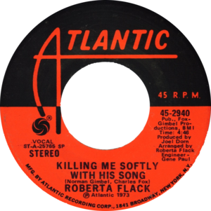Killing Me Softly with His Song - Image: Killing Me Softly with His Song by Roberta Flack US vinyl