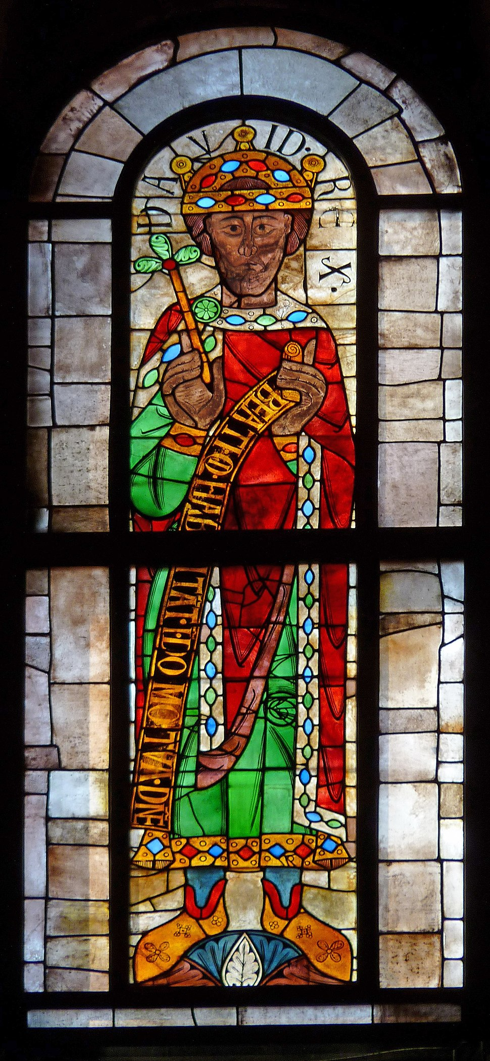 King David in Augsburg Cathedral light