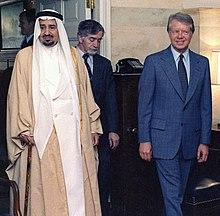 Carter standing next to King Khalid