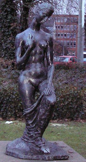 Die Kniende (kneeling woman), 1911