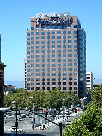 Knight Ridder - The Knight Ridder building in downtown San Jose, California.