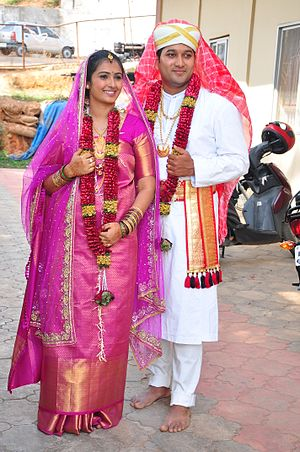 Kodagu Gowda - Kodagu Gowda couple in traditional dress