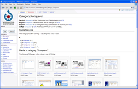 Konqueror 4.2.2 запущенный в Windows