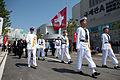 Koreanische Ehrengarde zum Schweizer Pavillon Yesou Nationentag.jpg