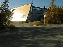 Kovdor, building of the Pyramid club.jpg