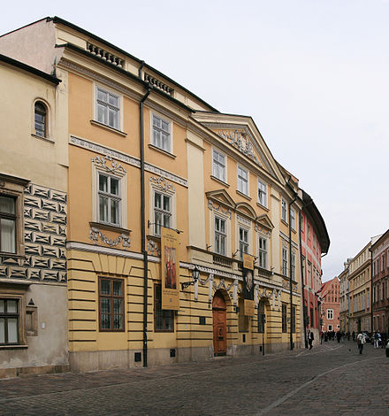 Where John Paul II once lived as priest and bishop on Kanonicza Street, Krakow (now an Archdiocese Museum) Krakow Kanonicza19 C50.jpg