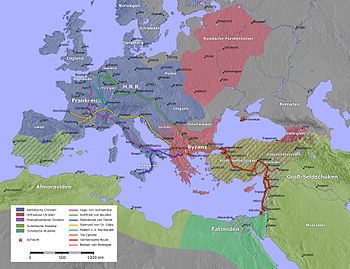 The course of the first crusade