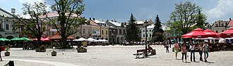 Krosno - Main market square in Krosno