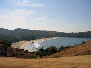 Gokarna, Karnataka - View for Kudle beach seen from north