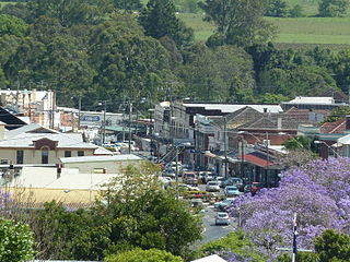 Kyogle Town in New South Wales, Australia