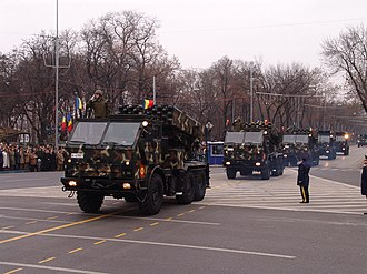 LAROM - Image: LAROM MRL during the Romanian National Day military parade 2