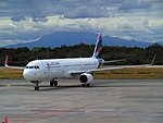 LATAM Chile Airbus A321 at Puerto Montt Airport (2017).jpg
