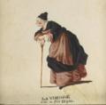 La Vieille, dans la Fée Urgèle. Incarnée par Justine Favart (dessin, Jean-Louis Fesch).png