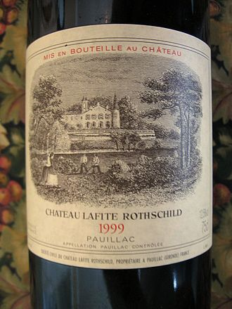 Château Lafite Rothschild - Château Lafite Rothschild label from the 1999 vintage