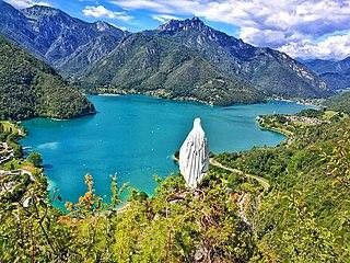 Lago di Ledro lake in Trentino, Trentino-South Tyrol, Italy