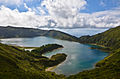 Lagoa do Fogo on Sao Miguel in the Azores of Portugal on the planet Earth.jpg