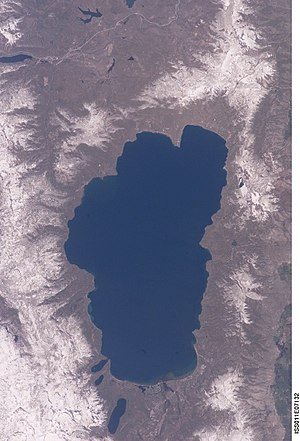 Lake Tahoe - Lake Tahoe from space