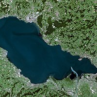 Lake Constance seen from Spot satellite.
