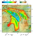 Lake Huron bathymetry map.png