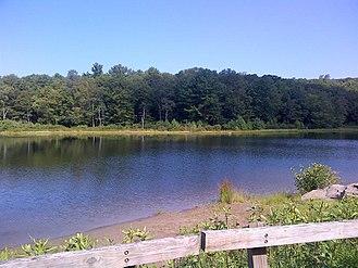 Bear Creek Township, Luzerne County, Pennsylvania - Lake at Bear Creek Camp Conservation Area
