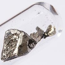 Image: Piece of lanthanum metal