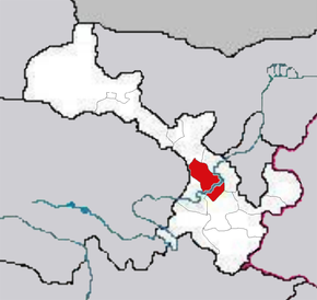 Lanzhou is highlighted on this map