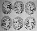 """Las Glorias Nacionales, 1852 """"Nº X de Reyes de España.1. Alonso V 2. Bermudo III 3. Fernando I y Sancha 4. Sancho II 5. Alonso VI 6. Urraca y Alonso su esposo"""". (4013188573).jpg"""