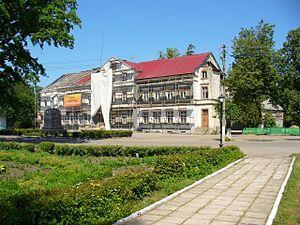 Krasnoznamensk, Kaliningrad Oblast - Krasnoznamensky District Administration building in Krasnoznamensk