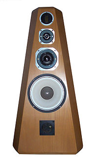 An expensive 4-way, high fidelity loudspeaker system.