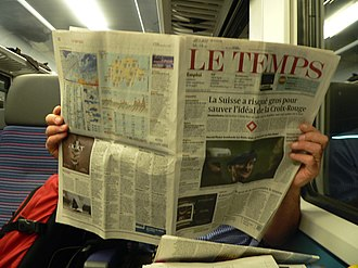 Berliner (format) - The Swiss French-language newspaper Le Temps has a Berliner format.