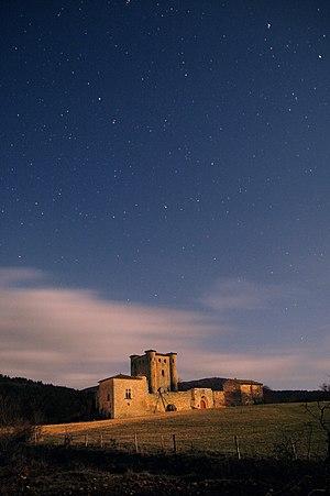 Arques, Aude - Château d'Arques at night
